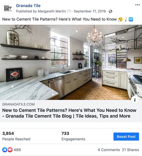 Granada Tile Facebook Post 2