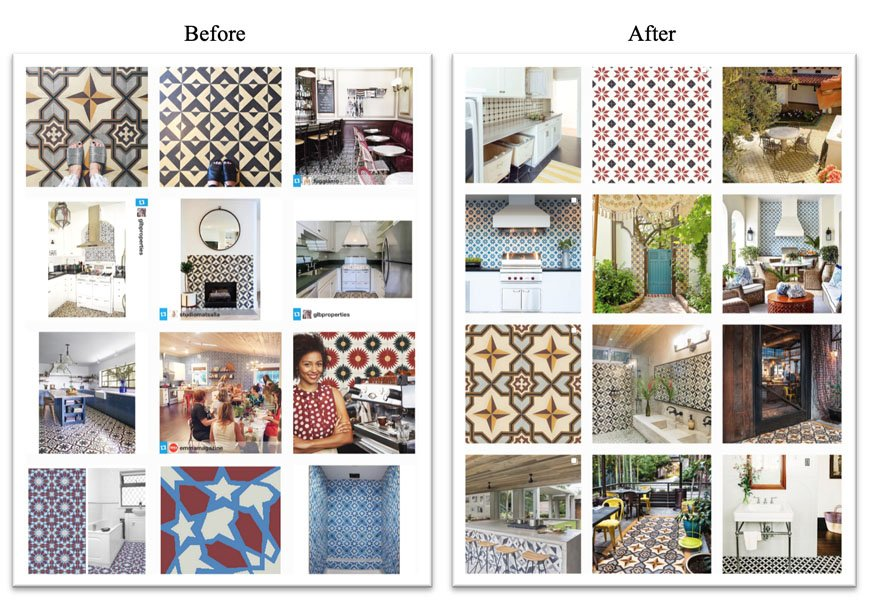 Granada Tile Instagram Grid Before and After