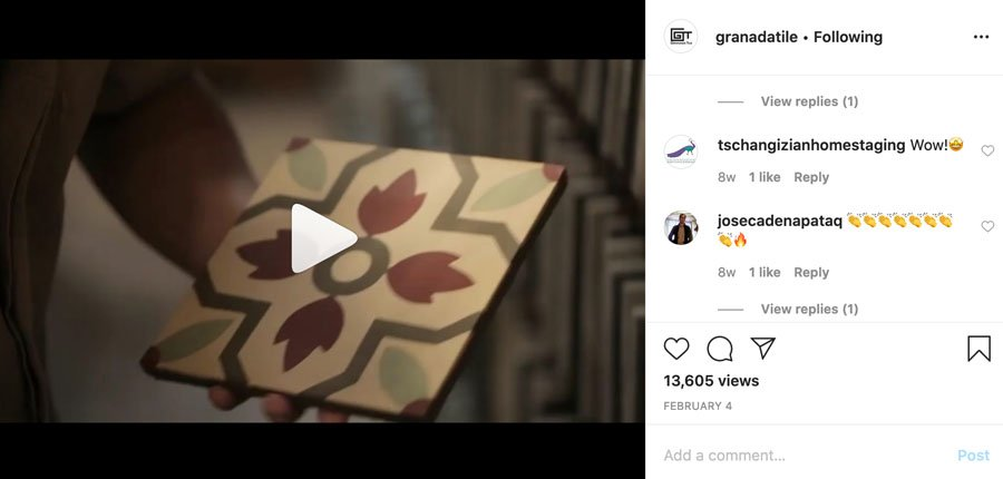 Granada Tile Instagram Post 1